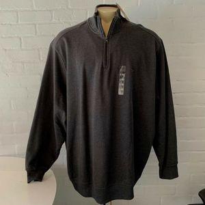 Dockers Zip Collar Pullover Sweat Shirt 2X 3X 4X